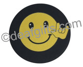 DRINK COASTER PAD SIGN LANGUAGE HAND I LOVE YOU (SMILEY)
