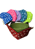 """Bowl Buddies ( Microwave Bowl Cozy) Sign Language hands """" I LOVE YOU"""" ( White Print hands)   EACH HOLDER COVER (NOT SET)"""