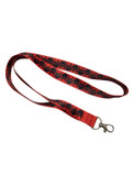 ILY LANYARD WITH KEYRING: RED W/BLACK IMPRINT