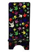 "IPHONE DEVICE STAND WITH SIGN LANGUAGE "" I LOVE YOU"" FULL COLOR HANDS FOR IPHONE ."