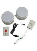 Wireless Doorbell Red LED Flasher and Videophone White LED Alert Kit
