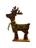 """Sign Language """" I LOVE YOU"""" hand with Reindeer Red Plain Hardboard Stand"""