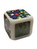 "Cube Clock with Color Changeable glowing LED Sign Language hand ""I LOVE YOU""  (Multi-color hand)"