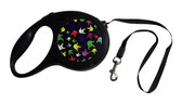 "Retractable Pet Dog Leash Tape with Sign Language "" I LOVE YOU"" Hands Multi Colors ( LARGE) 26 Long Feet"