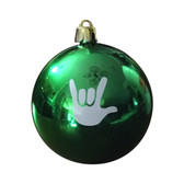 I LOVE YOU CHRISTMAS ORNAMENTS GREEN (EACH)