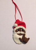 "SANTA CLAUS (BROWN ) CHRISTMAS ORNAMENTS SIGN HAND "" I LOVE YOU "" (VERY LIGHT WEIGHT )"