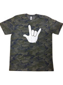Cameo Shirt with Sign Language Full White Hand (Adult Size)