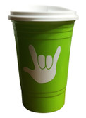 COFFEE TRAVEL CUP 16 OZ WITH SIGN LANGUAGE I LOVE YOU (Lime)