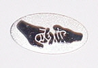 Friendship Oval Round Pin (silver shinny)
