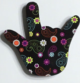 I LOVE YOU HAND SHAPE MAGNET (FLOWER & PAISLEY COLORFUL DESIGN)