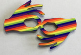 Hand Shape Sign Language INTERPRETER  HANDS  (RAINBOW) MAGNET