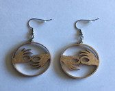 Circle with  Sign Language INTERPRETER  (GOLD) EARRINGS