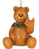 "Teddy Bear Sign Language "" I LOVE YOU"" Ornaments (Boy)"