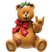 "TEDDY BEAR SIGN LANGUAGE "" I LOVE YOU"" ORNAMENTS (GIRL)"