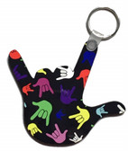 I LOVE YOU HAND SHAPE KEYCHAIN (Colorful Full Hands)
