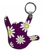 I LOVE YOU HAND SHAPE MAGNET (Purple Daisy Flower)