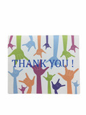 "THANK YOU Greeting Card   "" I LOVE YOU HANDS"" with words  Finger Spell """