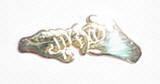 Friendship Flat plate Pin (shinny gold)