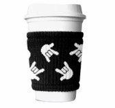 SIGN LANGUAGE FULL HANDS WRAP SWEATER BAND FOR DRINK (BLACK & WHITE)