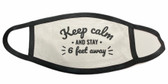 SIGN LANGUAGE   FACE MASK (KEEP CALM AND STAY 6 FT AWAY) BLACK TRIM