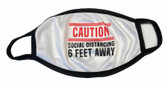 CAUTION SOCIAL DISTANCING 6 FEET AWAY