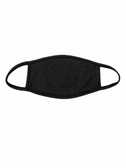 FACE MASK BLANK BLACK (BLACK TRIM) 100 % COTTON WITH POCKET INSERT