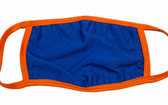 FACE MASK BLANK ROYAL (ORANGE TRIM) 100 % COTTON WITH POCKET INSERT