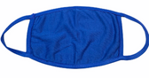 FACE MASK BLANK ROYAL (ROYAL TRIM) 100 % COTTON WITH POCKET INSERT