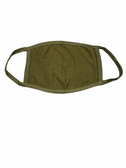 FACE MASK BLANK OLIVE (OLIVE TRIM) 100 % COTTON WITH POCKET INSERT