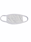 FACE MASK BLANK WHITE (WHITE TRIM) 100 % COTTON WITH POCKET INSERT
