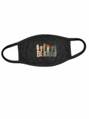 "SIGN LANGUAGE "" BE KIND"" HAND FACE MASK WITH BLACK EAR LOOP"