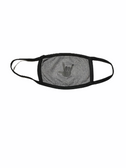 """SIGN LANGUAGE """" I LOVE YOU"""" HAND FACE MASK ( BLACK HAND / SPORT ASH GRAY BACKGROUND)  HAND CENTER"""