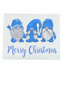 "Christmas Greeting Card  Sign Language I LOVE YOU HAND "" BLUE GNOMES """