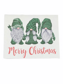 "Christmas Greeting Card  Sign Language I LOVE YOU HAND "" GREEN GNOMES """
