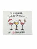 "Christmas Greeting Card  Sign Language I LOVE YOU HAND "" WHITE CHRISTMAS """