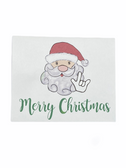 "Christmas Greeting Card  Sign Language I LOVE YOU HAND ""  SANTA """