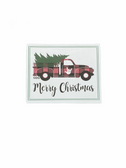 "Christmas Greeting Card  Sign Language I LOVE YOU HAND "" TRUCK  """