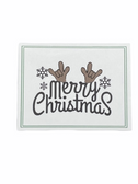 "Christmas Greeting Card  Sign Language I LOVE YOU HAND "" MERRY CHRISTMAS (BLACK ) WITH REINDEER """
