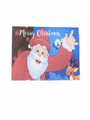 "Christmas Greeting Card  Sign Language I LOVE YOU HAND "" MERRY CHRISTMAS WITH SANTA WAVE HAND """