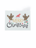 "Christmas Greeting Card  Sign Language I LOVE YOU HAND "" MERRY CHRISTMAS WITH REINDEER """