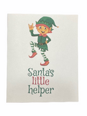 "Christmas Greeting Card  Sign Language I LOVE YOU HAND "" ELF SANTA LITTLE HELPER """