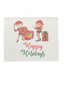 "Christmas Greeting Card  Sign Language I LOVE YOU HAND "" ELF  BOY AND GIRL WITH PRESENT"""