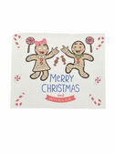 "Christmas Greeting Card  Sign Language I LOVE YOU HAND "" GINGER BREAD BOY AND GIRL """