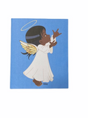 "SIGN LANGUAGE "" I LOVE YOU "" HAND ANGEL ( BROWN GIRL ) GREETING CARD"