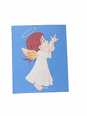 "SIGN LANGUAGE "" I LOVE YOU "" HAND ANGEL ( RED HAIR/ FLESH ) GREETING CARD"