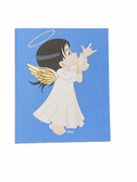"SIGN LANGUAGE "" I LOVE YOU "" HAND ANGEL ( BLACK HAIR/ FLESH )  GREETING CARDS"