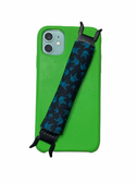 "Sign Language "" I LOVE YOU"" Hands  iPhone Strap Holder ( Black & Teal Hands)"