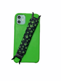 "Sign Language "" I LOVE YOU"" Hands  iPhone Strap Holder ( Black & Lime Hands)"