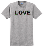 SIGN LANGUAGE T SHIRT ( I LOVE YOU) FULL COLORFUL HANDS  (ADULT SIZE)   LOVE