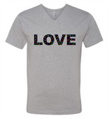 SIGN LANGUAGE T SHIRT ( I LOVE YOU) FULL COLORFUL HANDS (YOUTH SIZE) LOVE